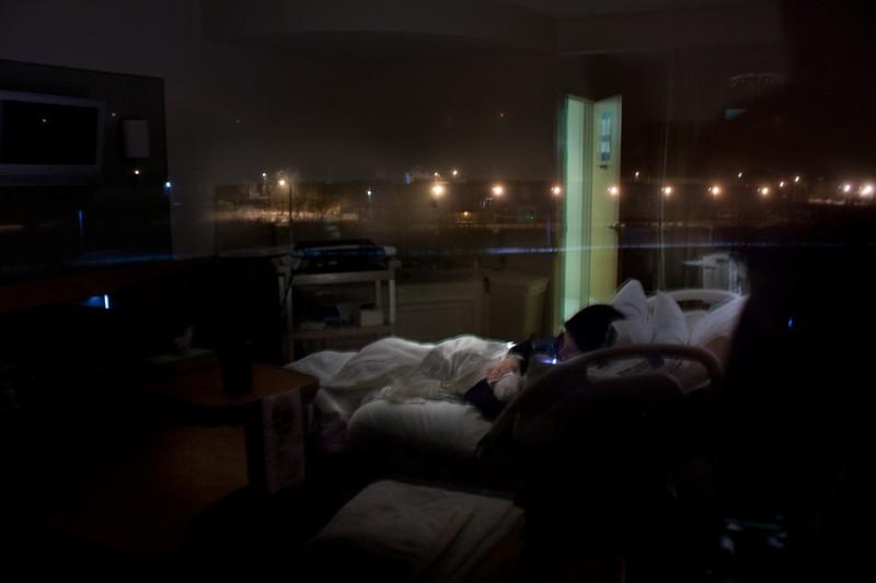 lampton, portland, first night in hospital